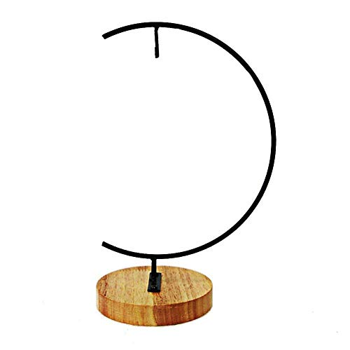 Awesomes Ornament Display Stand/Flower Pot Stand Holder Iron Pothook Hook Hanger for Glass Terrarium Lanterns (Wood)