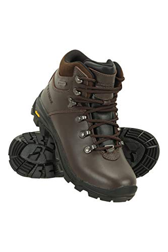 Mountain Warehouse Waterproof Vibram Womens Boots - Camping Shoes Dark Brown Womens Shoe Size 10 US