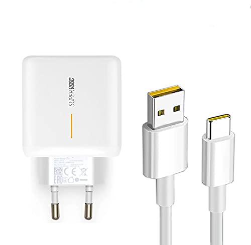 Cargador de Red + Cable USB Tipo C Compatible Carga SUPERVOOC 65W...