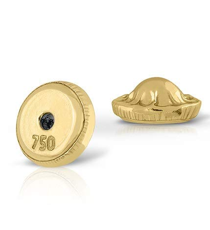 Tuerca tornillo en oro de 18k, repuesto para tus aretes pendientes universal. Máxima calidad y seguridad. ASEGURESE DE QUE TIENE LA ROSCA HECHA EN EL PALILLO DE LOS PENDIENTES (18 kilates - Tuerca)