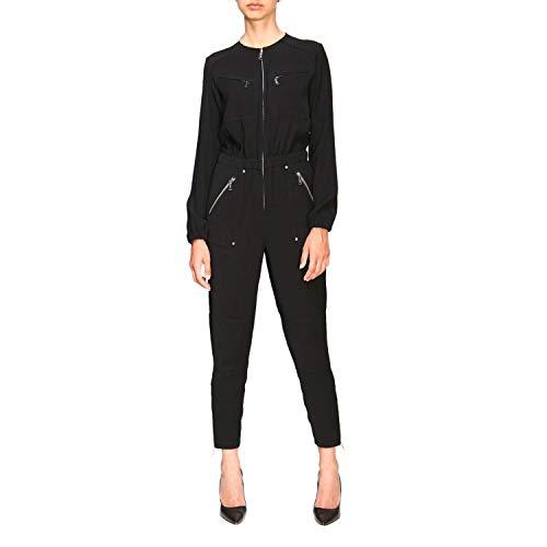 Michael Michael Kors Sporty Zip Jumpsuit Overalls/Latzhosen Damen Schwarz - S - Overalls/Latzhosen Dress