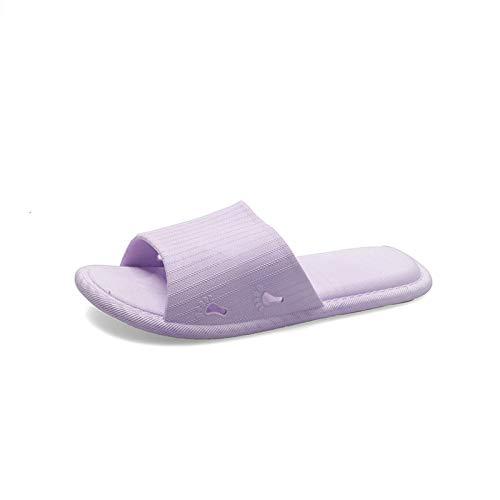 Nwarmsouth Zapatillas de Gimnasio de Suela Blanda, Sandalias cómodas de Suela Blanda, Zapatillas de baño para baño-Purple_38-39, Zapatos de Playa y Piscina para Ducha