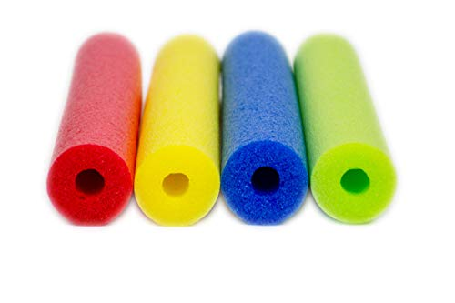Fix Find - Pool Noodles - 4 Pack of 52 Inch Hollow Foam Pool Swim Noodles | Multi-Colored Foam Noodles