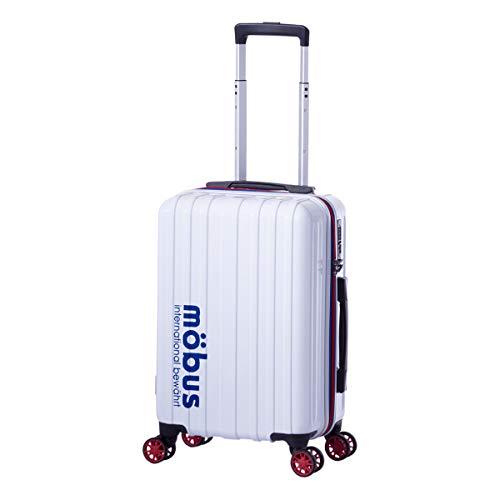 [アジアラゲージ] モーブス スーツケース 機内持ち込み 32L 33.5cm 2.5kg MBC-1908-18 ハード ファスナー mobus×A.L.I TSAロック搭載[09/12] ホワイト