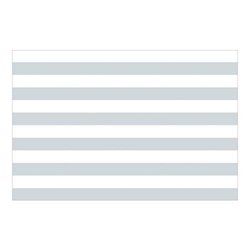 Kindertapeten - Vliestapeten - No.YK53 Querstreifen Grau Weiß Streifentapete - Fototapete Breit Vlies Tapete Wandtapete Wandbild Foto 3D Fototapete, Größe HxB: 290cm x 432cm