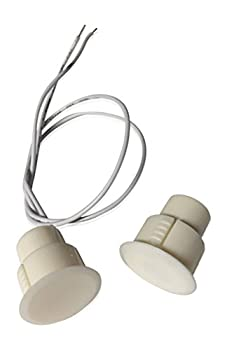 """1 pcs White Recessed Door Contacts NC Security Alarm Window Sensors with Magnetic Reed Switch These ¾"""" Door Contact Position switches  DCS  Work with All Access Control and Burglar Alarm Systems"""