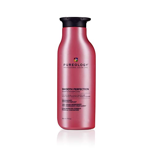 Pureology Smooth Perfection Shampoo | For Frizzy, Color-Treated Hair | Smooths Hair & Controls Frizz | Sulfate-Free | Vegan | Updated Packaging | 9 Fl. Oz. |