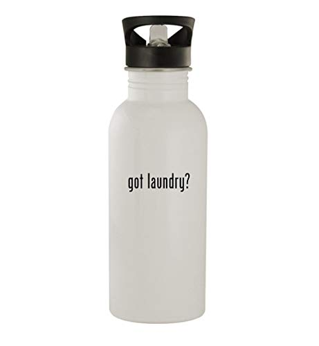 got laundry? - 20oz Stainless Steel Outdoor Water Bottle, White