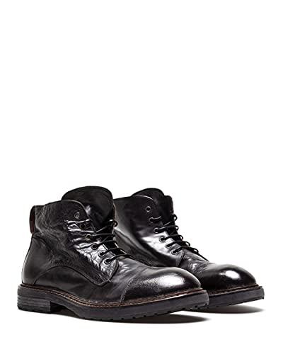 moma scarpe MOMA Scarpe Stivaletti Uomo 2BW147 Vitello Nero Pelle