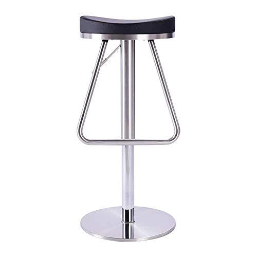 MJY Decoración del hogar Taburete de bar Rotación de 360 ??grados redonda con reposapiés Taburete de cocina de cuero sintético ajustable Desayuno Company Cafe Room Chair hgf