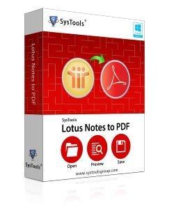 SysTools Lotus Notes au PDF (livraison par courrier électronique - pas de CD)