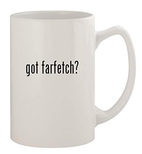got farfetch? - 14oz Ceramic White Statesman Coffee Mug, White