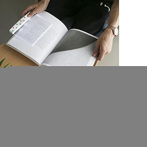 Luz de lectura LED, práctica luz de lectura de plástico, pequeña innovadora para iluminación de lectura de dormitorio