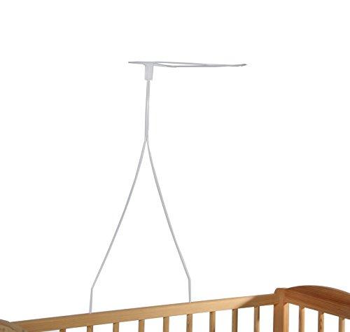 Himmelstange für Beistellbett, Himmelstange Babybett, Höhe ca. 70 cm, Babyblume, weiß