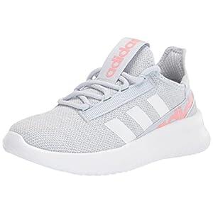 adidas Kaptir 2.0 Running Shoe, Halo Blue/White/Super Pop, 10.5 US Unisex Little Kid