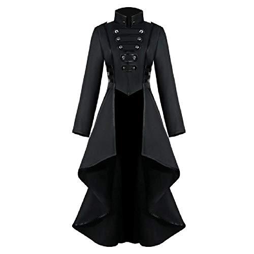 Nobrand Chaqueta de Abrigo gótico de Mujer Steampunk Traje de Esmoquin Corsé Trajes de Disfraces de Halloween Señoras Chaqueta Casual Abrigo