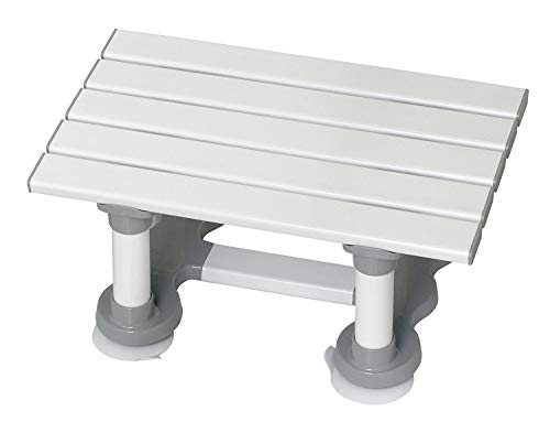 Homecraft Savanah latten badstoel, lichtgewicht bad stoel met zuignap voeten voor onafhankelijkheid en herfst Preventie, douche stoel met latten voor zitten in bad, 8
