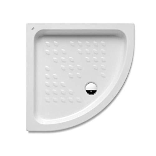 Plato de ducha curva italiana de la serie Roca Italia, 80 x 80 x 4 centímetros, color blanco (Referencia: A3740HM000)