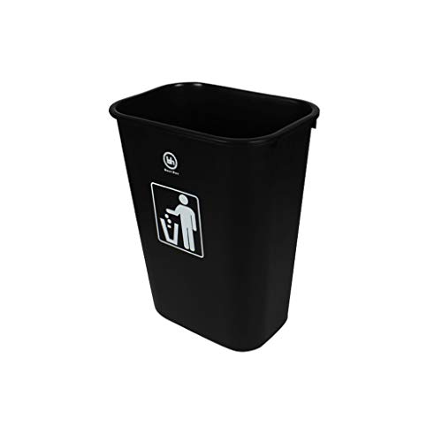 Trash can-YA Kjzhu1 tjock soppåsen, rektangel Outdoor Fruit Box plast inget lock soptunna industri soppkorg kapacitet: 45 l deebris samla apparat (färg: -
