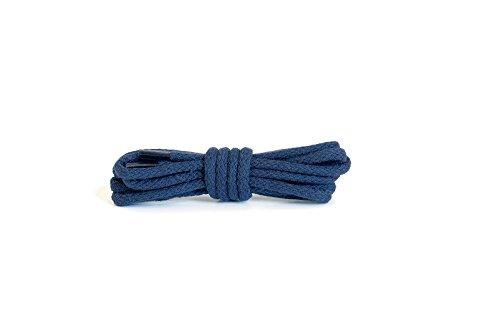 Kaps Lacci tondi, lacci in cotone 100% durevoli di alta qualità, fabbricati in Europa, 1 paio,, molti colori e lunghezze (75 cm - da 4 a 5 paia di occhielli / 57 - Marino)