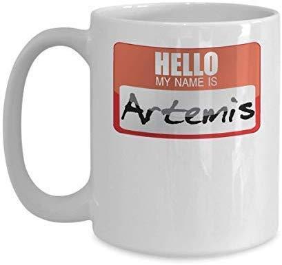 Not Applicable Novedad Taza de caf Mi Nombre es Artemisa Mitologa Griega Disfraz de Halloween Dios Griego Historia Antigua Diosas Grecia Truco o Trato Taza de Regalo Regalo de cumpleaos 11OZ