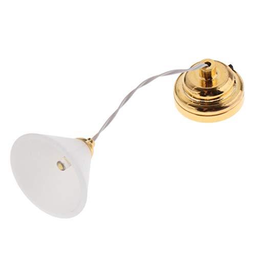 Sharplace Lámpara de Techo de Dormitorio de Casa de Muñecas en Miniatura Exquisita Escala 1/12