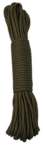 15 m / 50 FT - 4 mm Parachute Cord Seil mit 7 Strängen verschiedene Farben Schnur Fallschirmschnur Schnüre Allzweck Reepschnur Tau Bundeswehr, Survival, Bootsport, Sport, Camping, Segeln, Angeln, Fischen, Wandern reißfest Parachute Cord 550lbs **NICHT ZUM KLETTERN GEEIGNET** (Grün, 15m / 50FT)