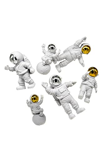 ARTOVOM Statue Decor (Gold) Small Crafted Astronaut Figurines, Living Room Bedroom Office Decoration, Book Shelf TV Stand Decor - Astronaut Sculptures Collection BFF Gifts for Space Lovers Gold Suit