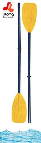 Paddel Set Kunststoff Ruderset Ruder Länge ca. 94 cm zerlegbar auf kompakte 33cm für Schlauchboote Gummiboot Luftmatratzen