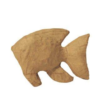 Pappmaché-Figur, Größe: ca. 12cm, Motiv: Fisch