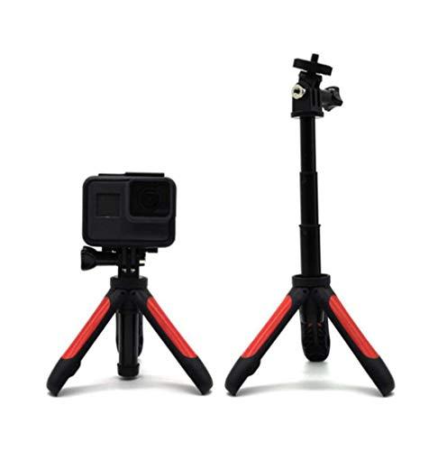 Linghuang Extension Stativ Selfie Stick für DJI OSMO Action/DJI OSMO Pocket/GoPro Hero 7 6 5 4 / Insta360 / Xiaomi Yi 4K + EKEN SJCAM Action Kamera Mini Ständer (rot)