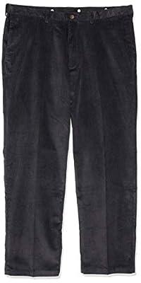 Haggar Men's 21 Wale Stretch Corduroy Expandable Waist Classic Fit Plain Front Pant, Dusk, 38x32 by Haggar Men's Bottoms