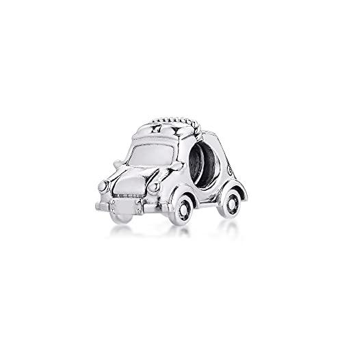 LILANG Pulsera de joyería Pandora 925, Ajuste Natural para Collares, Cuentas de Coche eléctrico, abalorio de Plata esterlina para Mujer, Regalos DIY