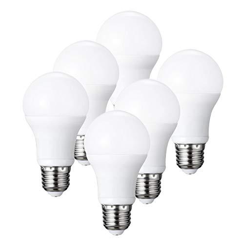 IMVSINCERE Bombilla LED E27, 14 W, 1600 lm, blanco cálido 2700 K, reemplaza a halógeno de 105 W, brillo no regulable, 6 unidades
