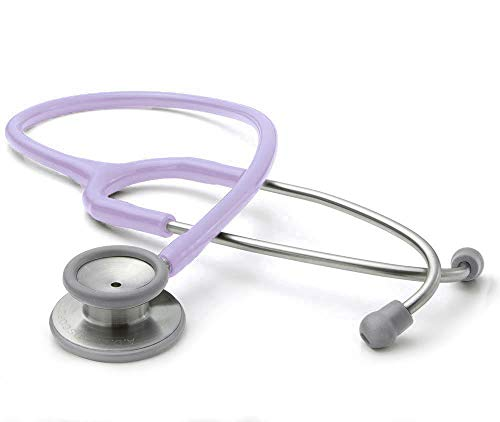 ADC Adscope 603 Premium Stainless Steel Clinician Stethoscope with Tunable AFD Technology, Lifetime Warranty, Lavendar