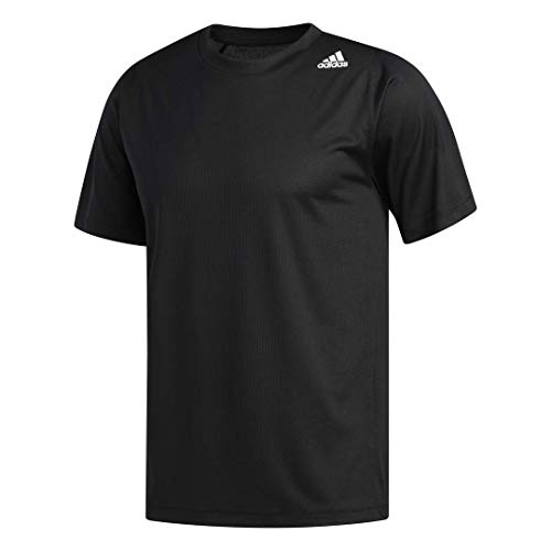 Price comparison product image adidas Men's FreeLift Fitted 3-Stripes Training Tee,  Black,  Large