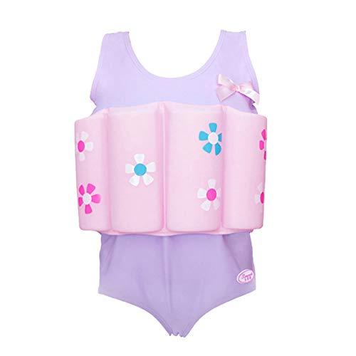 FYMNSI Traje de baño flotante para niños y niñas de una pieza con 16 palos de flotación extraíbles, para aprender a nadar, chaleco de ayuda para entrenamiento de 18 a 6 años