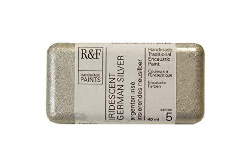 R&F Encaustic 40ml Paint, Iridescent Ger Silver by R&F Encaustic Paints