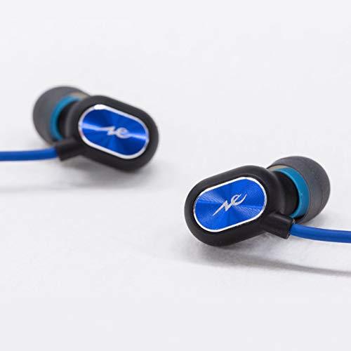ラディウスradiusワイヤレスイヤホン:Bluetooth対応IPX6防水耳掛け可能スポーツモデルHP-S100BTB(ブルー)