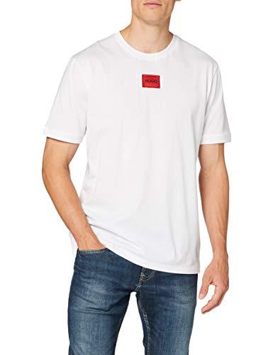 HUGO Herren T-Shirt Diragolino, White (100), XL