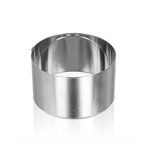 Metaltex 204532 - Aro emplatar Acero Inoxidable, 80