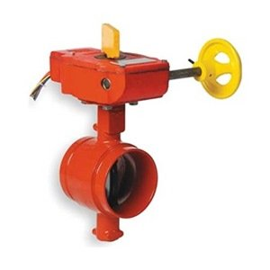 Butterfly Valve, Grooved, 3 In, Iron from Gruvlok