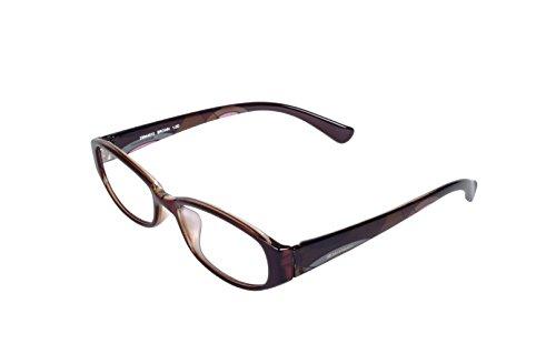 ESCHENBACH ルーペ メガネ型ルーペ シニアグラス 非球面レンズ ブルーライトカット エレガンシィ ブラウン +2.0度 2994-4820