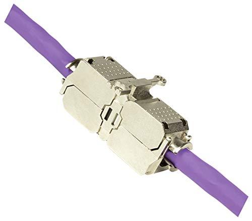 odedo® CAT 6A/7 STP 10GE - Conector de cable (apantallado, montaje sin herramientas, AWG 22-26, sin herramientas)