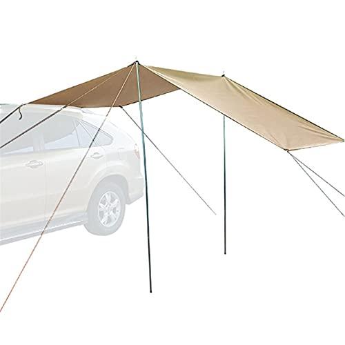 xiaomin Tienda de campaña para el techo del coche, tienda de campaña para SUV, MPV, remolque, playa, camping, coche, tienda de viaje, negro/caqui, 440 x 200 cm