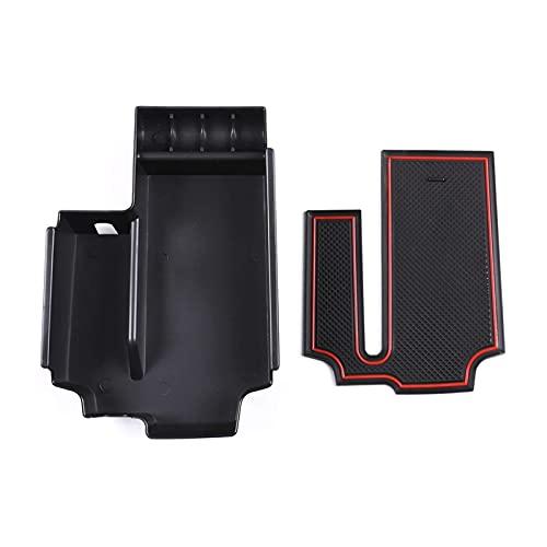 GAOLIHG Caja de almacenamiento para reposabrazos de consola central, bandeja de guantes de teléfono para BMW Serie 5 G30 2020 Accesorios de coche (negro)