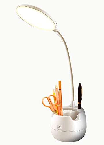 HXCD Lámpara de Escritorio pequeña Escritorio de protección Ocular Aprendizaje para Estudiantes Recargable de Tres usos Escritura Junto a la Cama Dormitorio Decoración de tifón Led