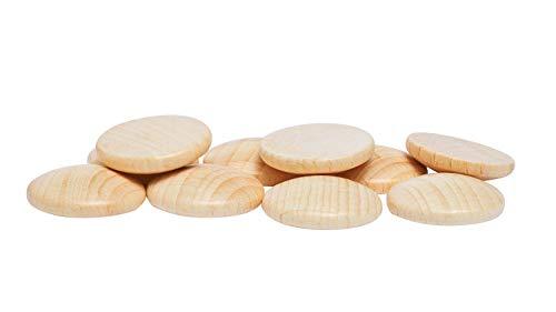 Holzplatinen, gewölbt, Ø 25 mm, 10 Stück