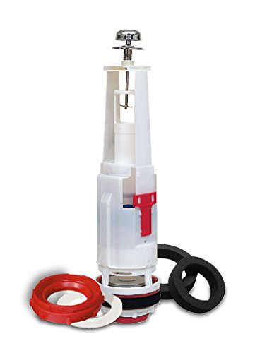 Fominaya 0147109400 Descargador con puente y tirador con base/juntas y acople para Victoria Roca, Blanco/Rojo