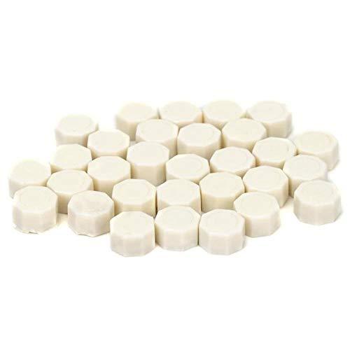 100pcs / Vintage Sellado Cera Tableta Píldora Granos Octagon Sello de cera Sello para sobre Fiesta de bodas Estampado de granos Sellado Cera-Beige blanco, China